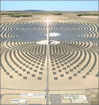 Gemasolar concentrated solar power plant near Seville, Spain